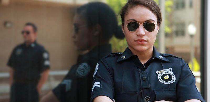 Nữ nhân viên bảo vệ cũng không tránh khỏi đặc thù của nghề