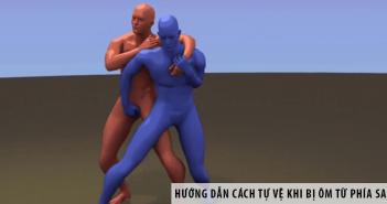 Hướng dẫn cách tự vệ khi bị ôm từ phía sau