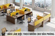 Mua bàn làm việc theo nhóm cho văn phòng 45m2